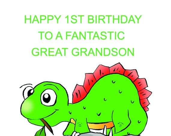 Great Grandson 1st Birthday Card