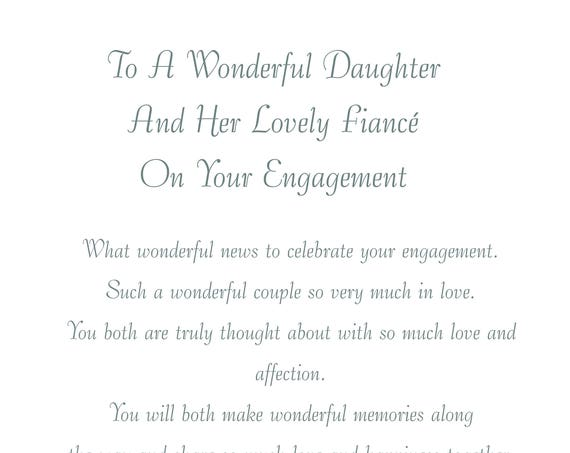 Daughter & Fiance Engagement Card