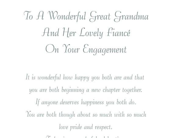 Great Grandma & Fiance Engagement Card