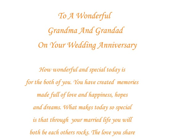 Grandma & Grandad Anniversary Card