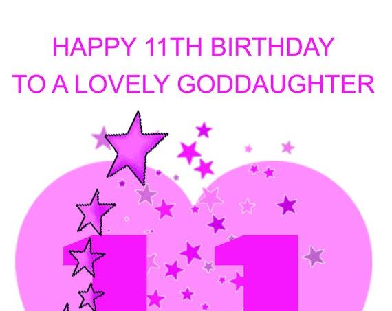 Goddaughter 11th Birthday Card