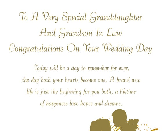 Granddaughter & Grandson in Law Wedding Card