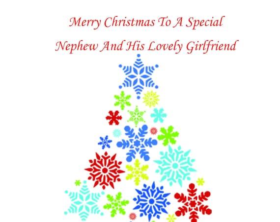 Nephew And Girlfriend Christmas Card