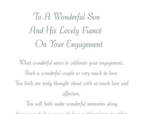 Son & Fiance Engagement Card