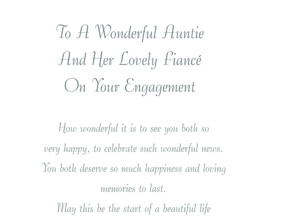 Auntie & Fiance Engagement Card