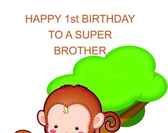 Brother 1st Birthday Card