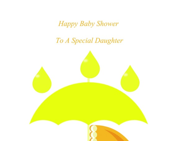 Daughter Baby Shower Neutral Card