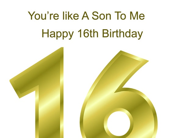 Like a Son 16th Birthday Card