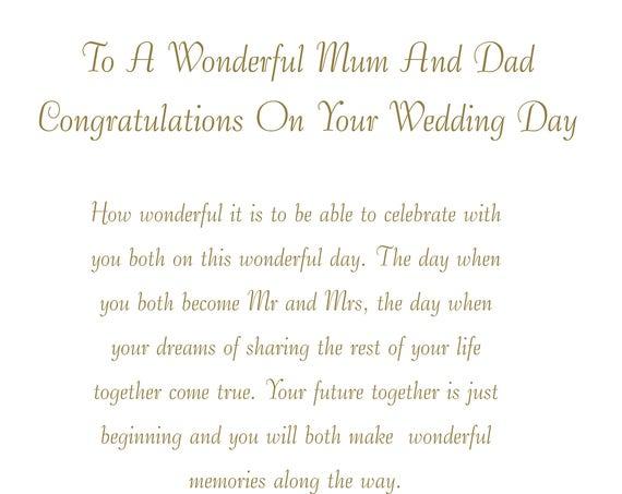 Mum & Dad Wedding Card