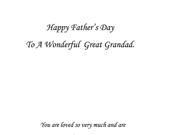 Great Grandad Father's Day Card