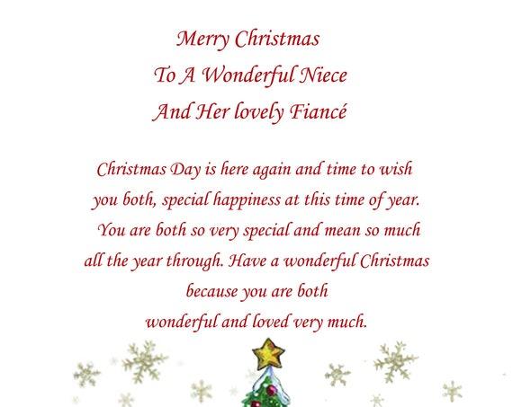Niece And Fiance Christmas Card Cute