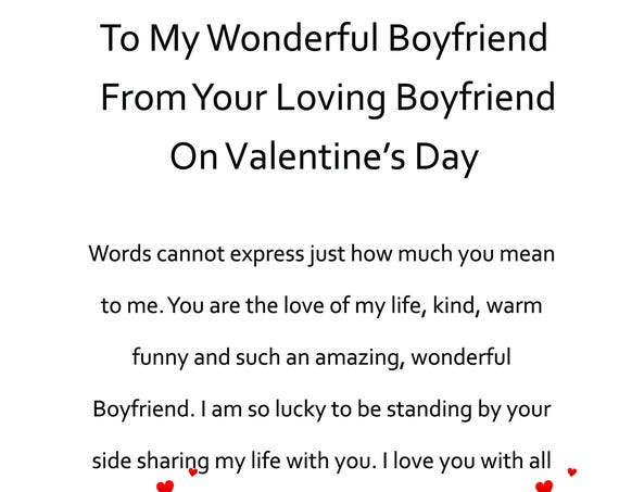 Boyfriend Valentines Day Card from your Boyfrind 2