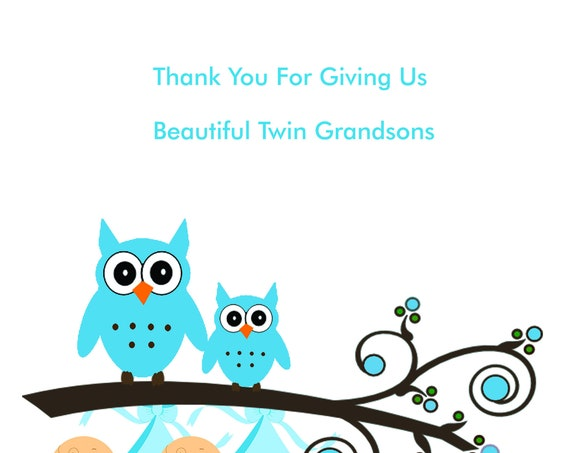 Thank you for our new Twin Grandsons Card