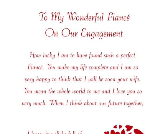 Fiance Engagement Card