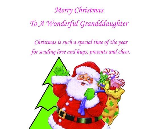 Granddaughter Christmas Card 3