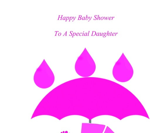 Daughter Baby Shower Twin Girls Card