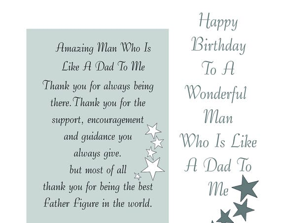 Like a Dad Birthday Card with removable Laminate