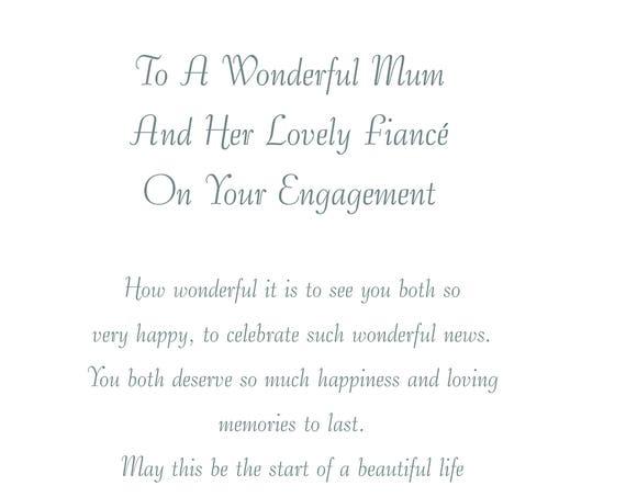 Mum & Fiance Engagement Card