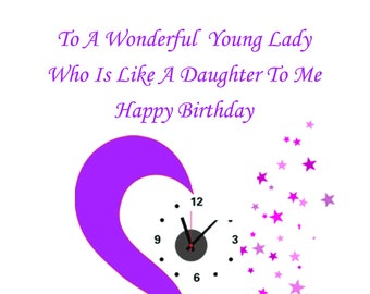 Like a Daughter Birthday Card