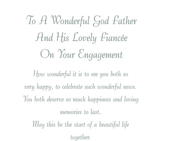 God Father & Fiancee Engagement Card