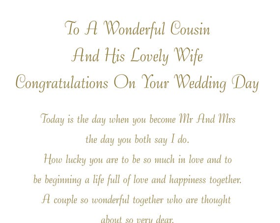 Cousin & Wife Wedding Card