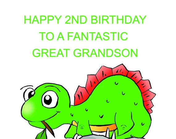 Great Grandson 2nd Birthday Card