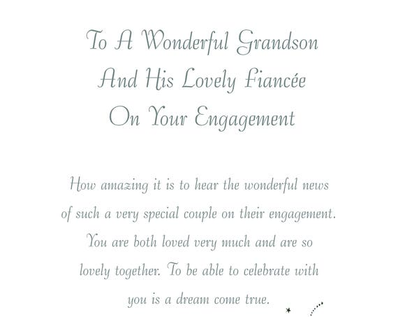 Granddson & Fiancee Engagement Card