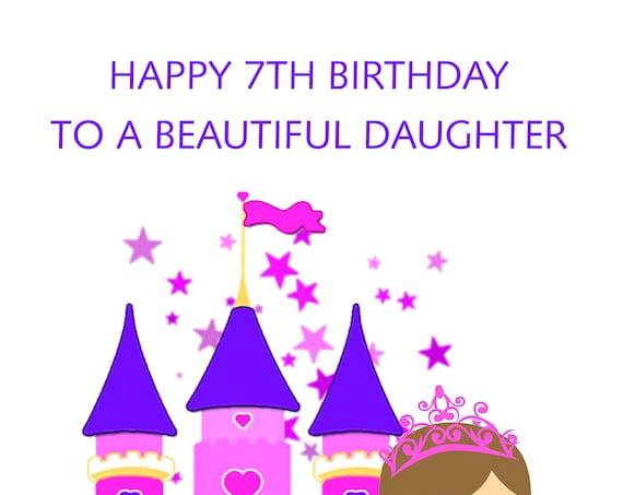 Daughter 7th Birthday Card