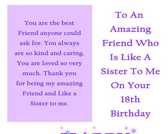 Friend Like A Sister Etsy