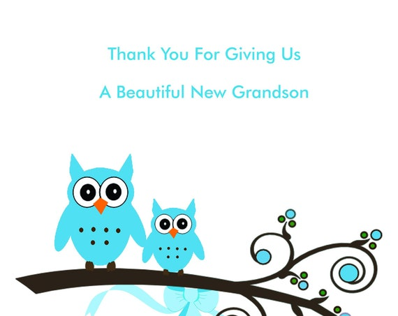 Thank you for our new Grandson Card