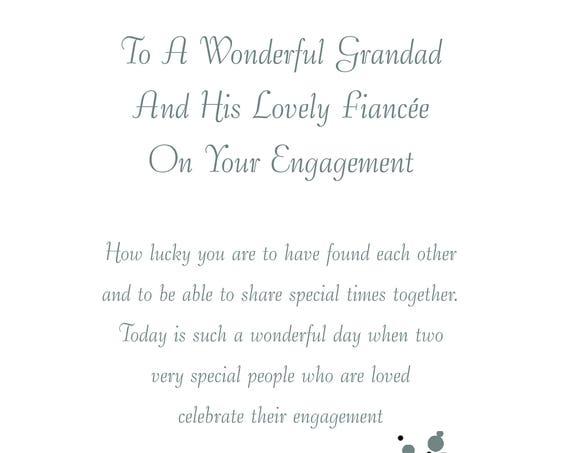 Grandad & Fiancee Engagement Card