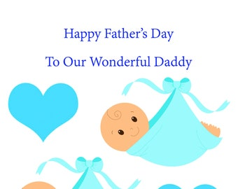 Daddy Bump Twin Boys Fathers Day Card