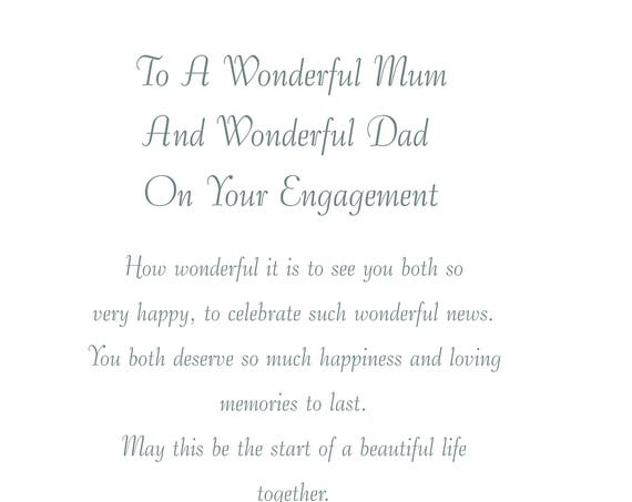 Mum & Dad Engagement Card