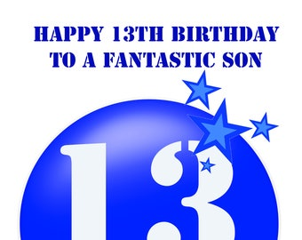 son 13 birthday card
