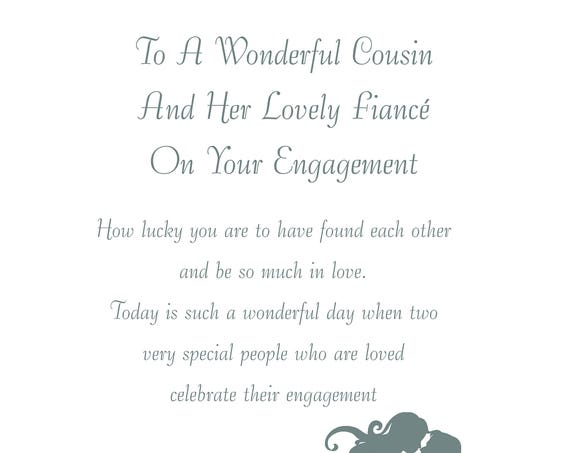Cousin & Fiance Engagement Card
