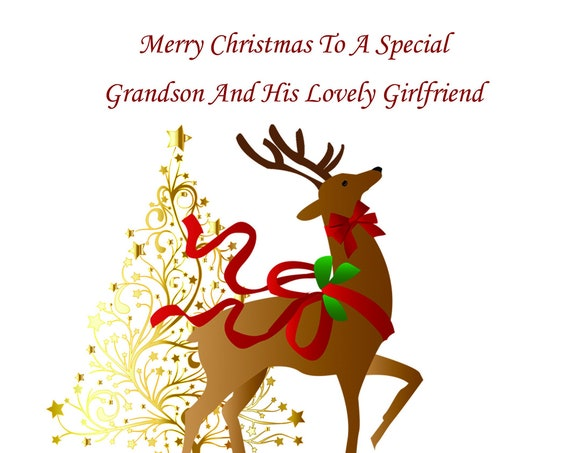 Grandson And Girlfriend Christmas Card