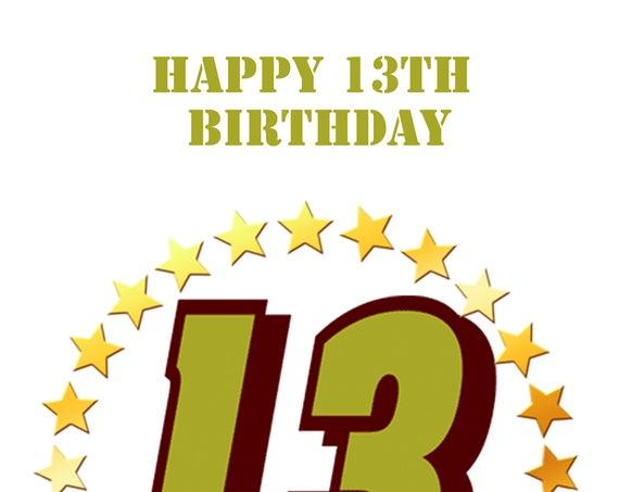 13th Birthday boy