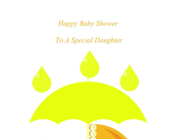 Daughter Baby Shower Twins Neutral Card