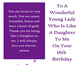 Like A Daughter Card Etsy