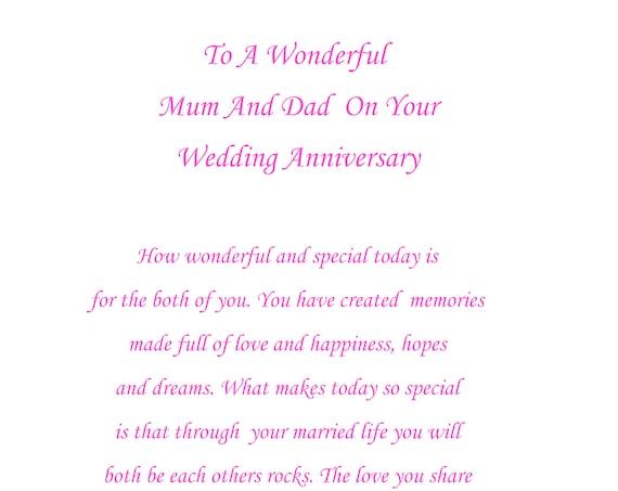 Mum & Dad Anniversary Card