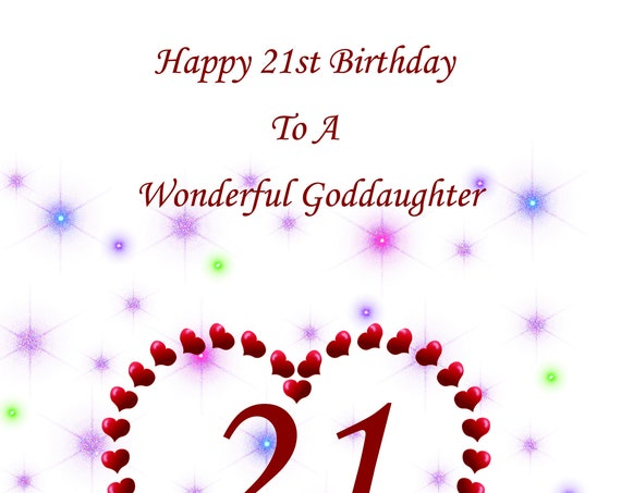 Goddaughter 21st Birthday Card