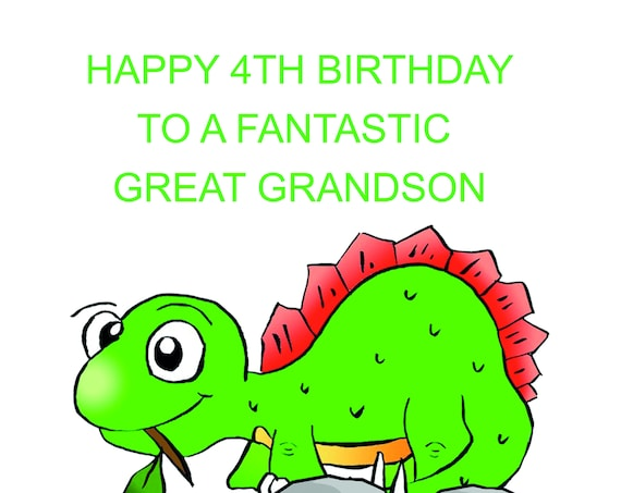 Great Grandson 4th Birthday Card