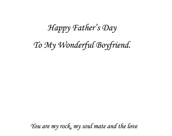 Boyfriend Father's Day Card