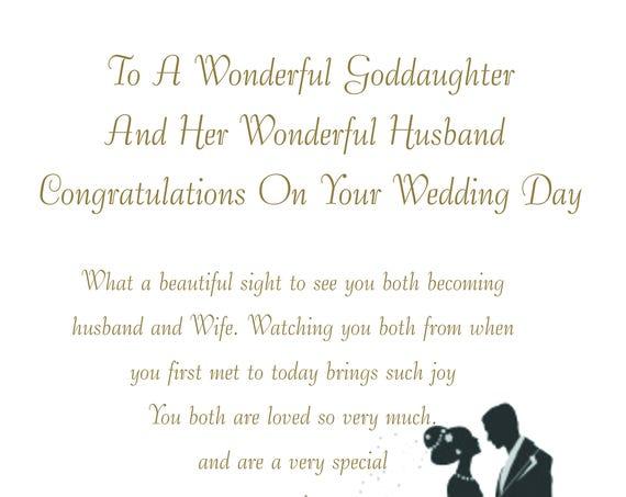 Goddaughter & Husband Wedding Card