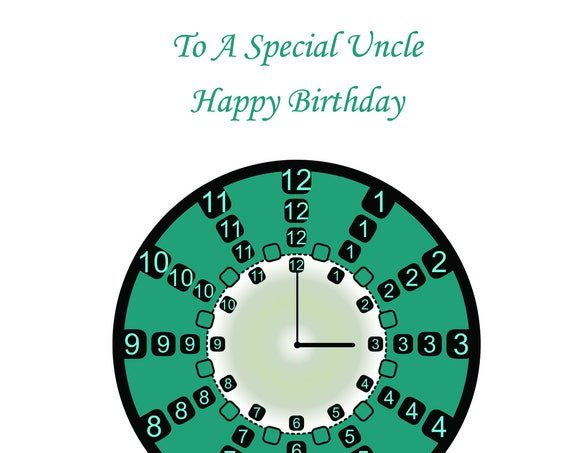 Uncle Birthday Card t