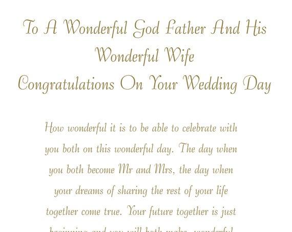 God Father & Wife Wedding Card