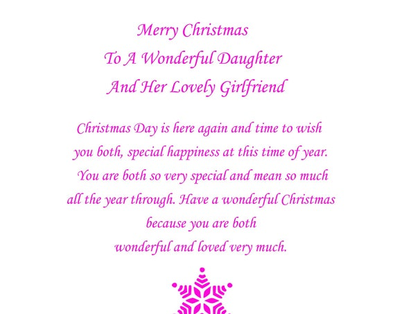 Daughter And Girlfriend Christmas Card Cute