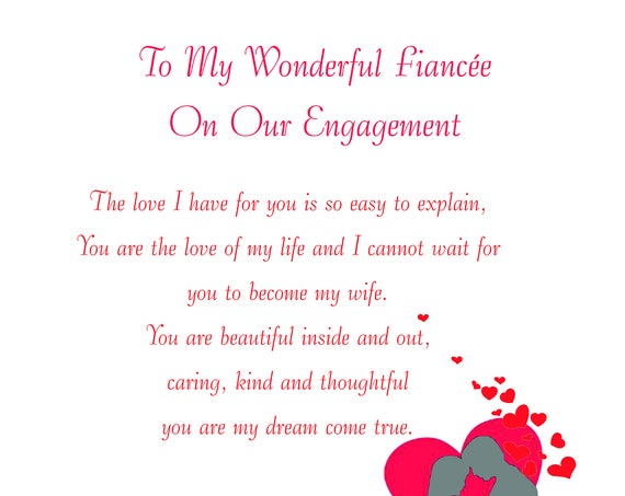 Fiancee Engagement Card