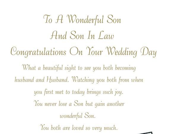Son & Son in Law Wedding Card