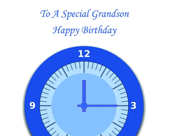 Grandson Birthday Card t